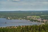 Vy över Rättvik, Dalarna