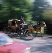 Hästskjuts i Dublin, Irland