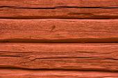 Röd timmervägg
