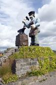 Skulptur Smeden i Smedjebacken, Dalarna
