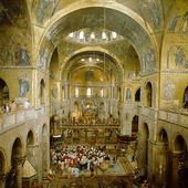 Interiör St Marcuskyrkan i Venedig, Italien