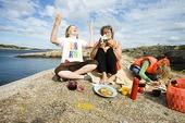 Picknick på klippa