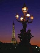 Gatulampa i Paris, Frankrike