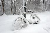 Översnöad cykel