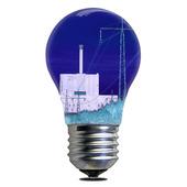 Glödlampa med kärnkraftverk, Forsmark
