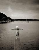 Barnlek vid havet