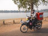 Ambulerande Vendor. Srah Srang.Cambodia