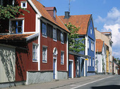 Old wooden houses in Kalmar, Småland