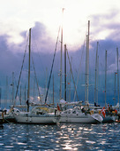 Fritidsbåtar i hamn