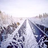 Motorväg, vinter